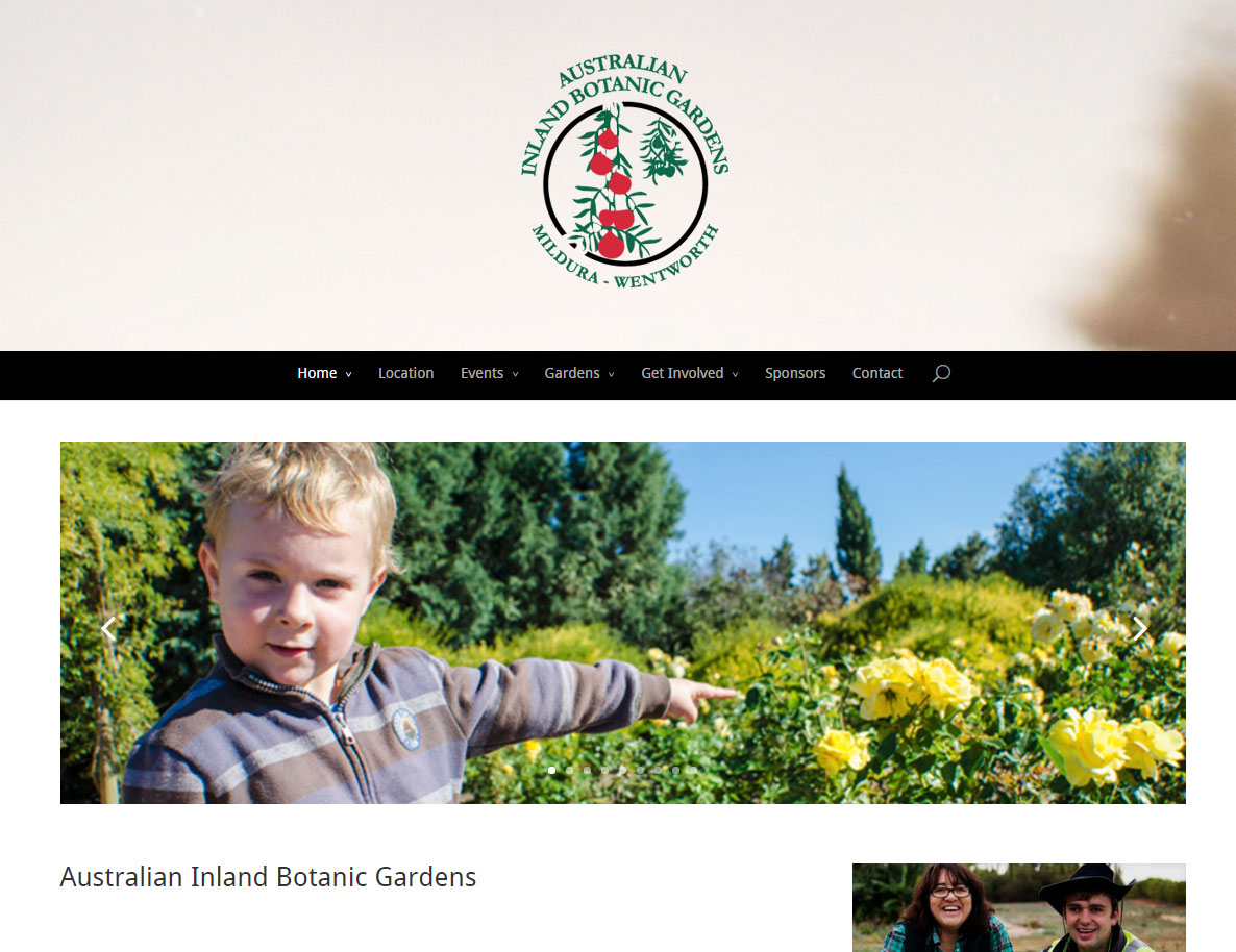 Australian Inland Botanical Gardens Website