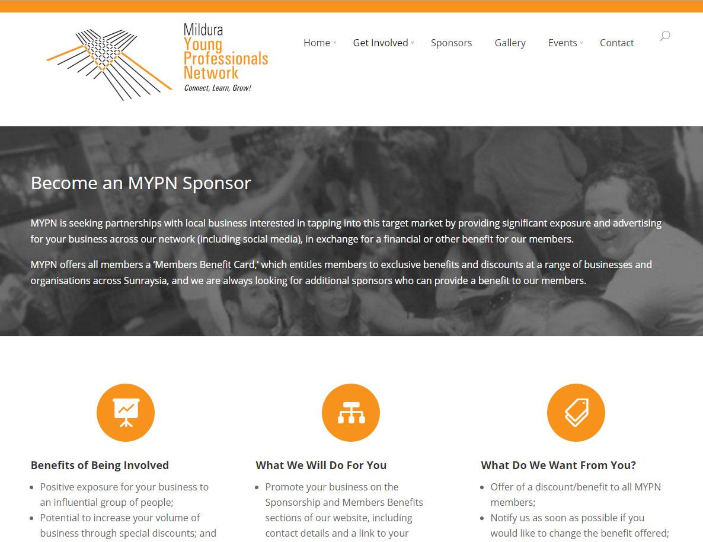 Mildura Young Professionals Network Website
