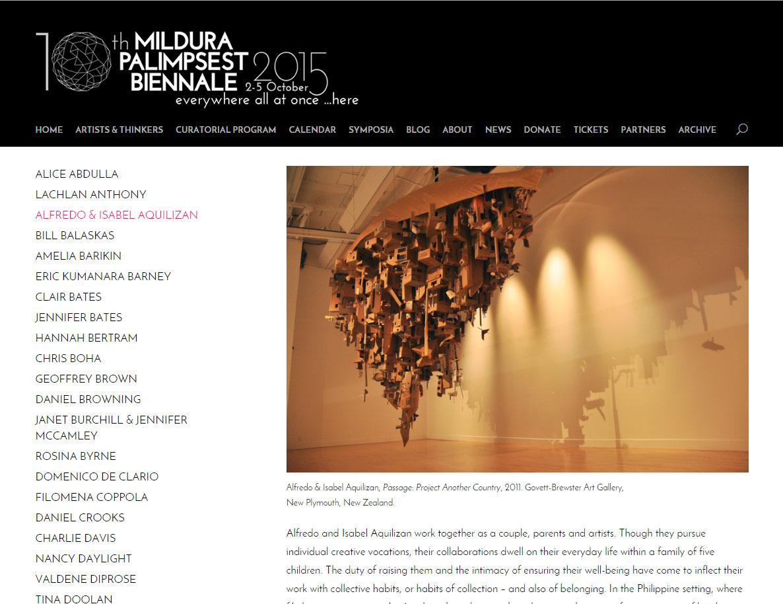 Mildura Palimpsest Biennale Website