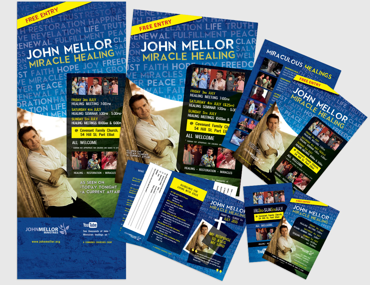John Mellor Event Promotion Materials