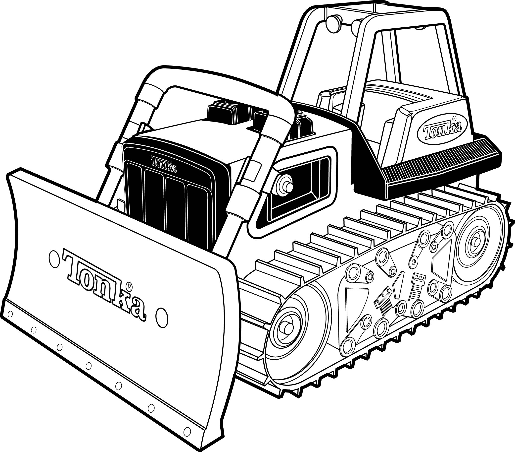 Tonka Truck Technical Illustration